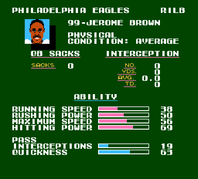 Image result for jerome brown tecmo